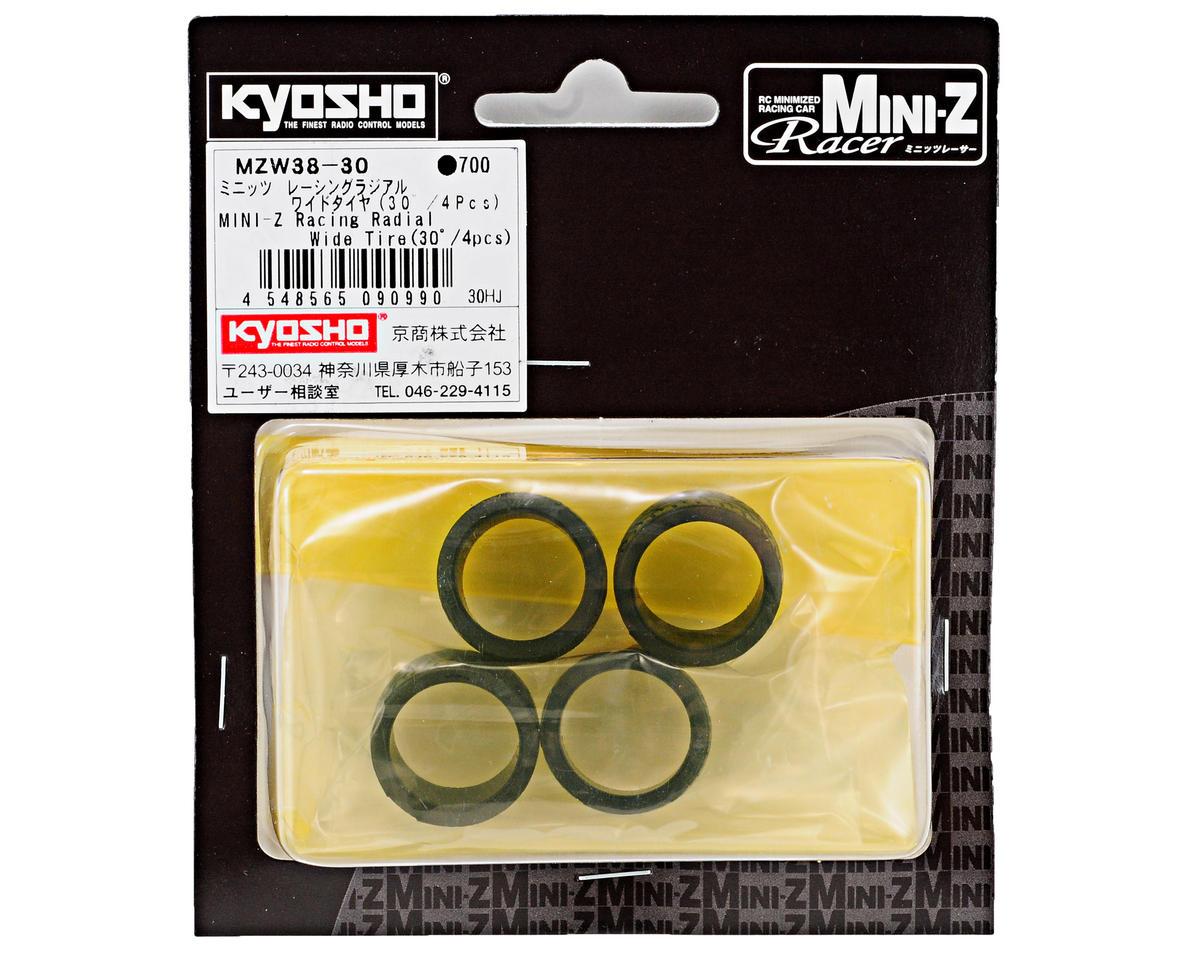 11mm Wide Racing Radial Tire (4) (30 Shore) by Kyosho