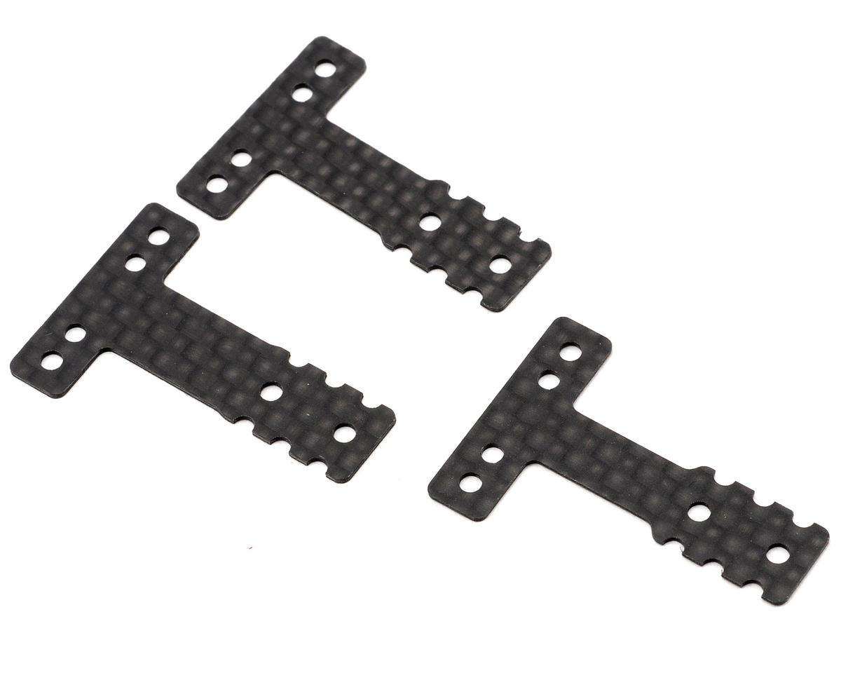 RM/HM-Type Carbon Fiber Rear Suspension Plate Set by Kyosho MR-03