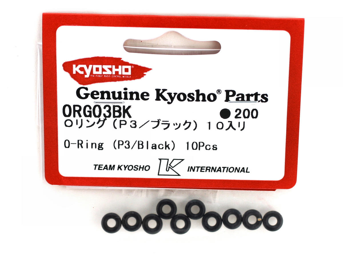 Kyosho P3 Black O-Rings (10)