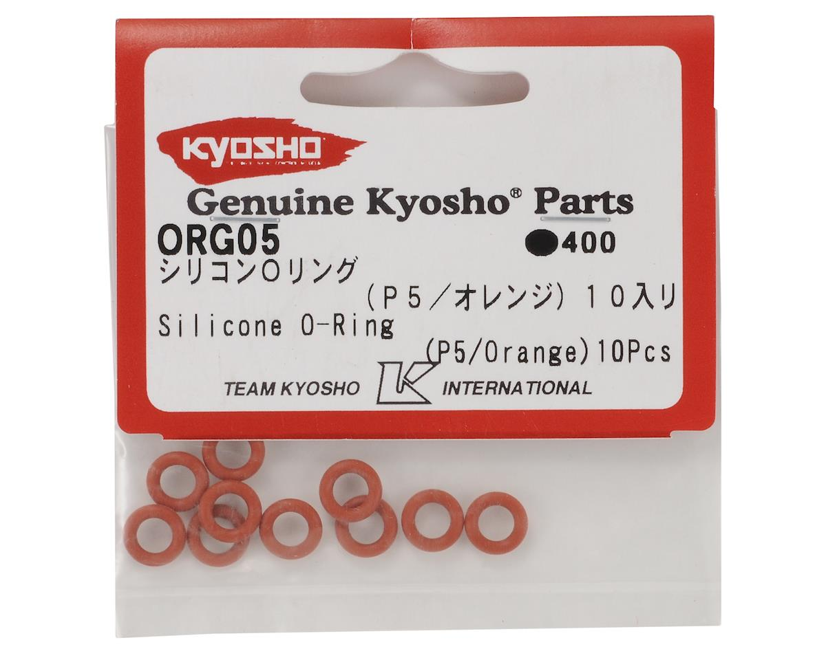 Kyosho Silicone O-Ring Set (P5/Orange) (10)
