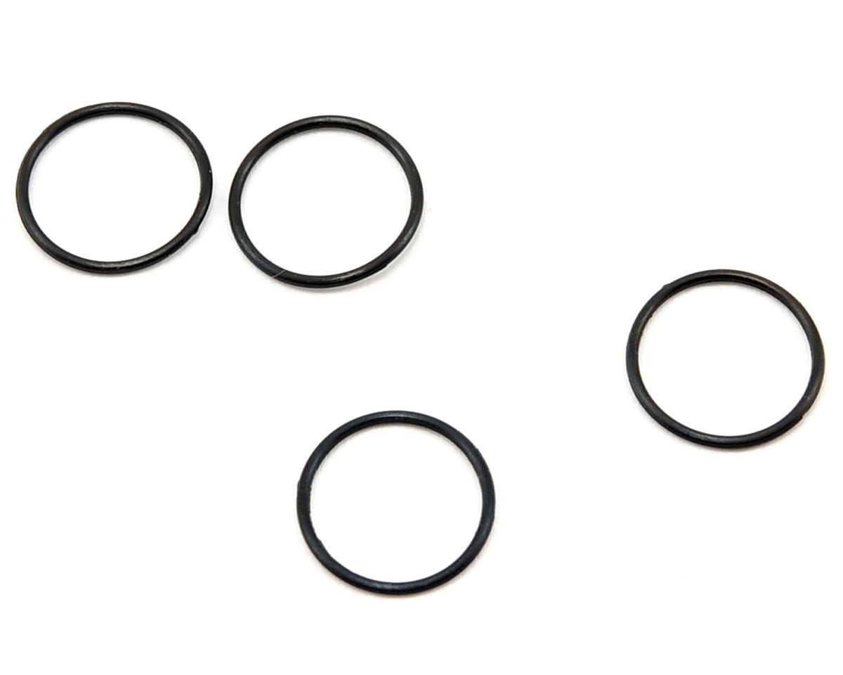 0.78 Big Bore Shock Pre-Load Collar O-Ring Set (Black) (4) by Kyosho