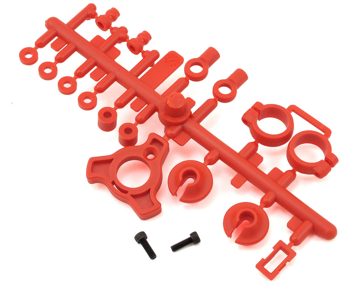 Optima Shock Plastic Parts (Red) by Kyosho