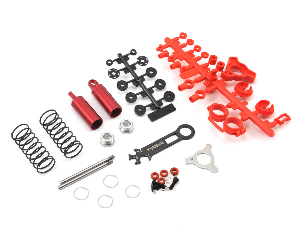 Kyosho Optima Front Shock Set (Red) (2)