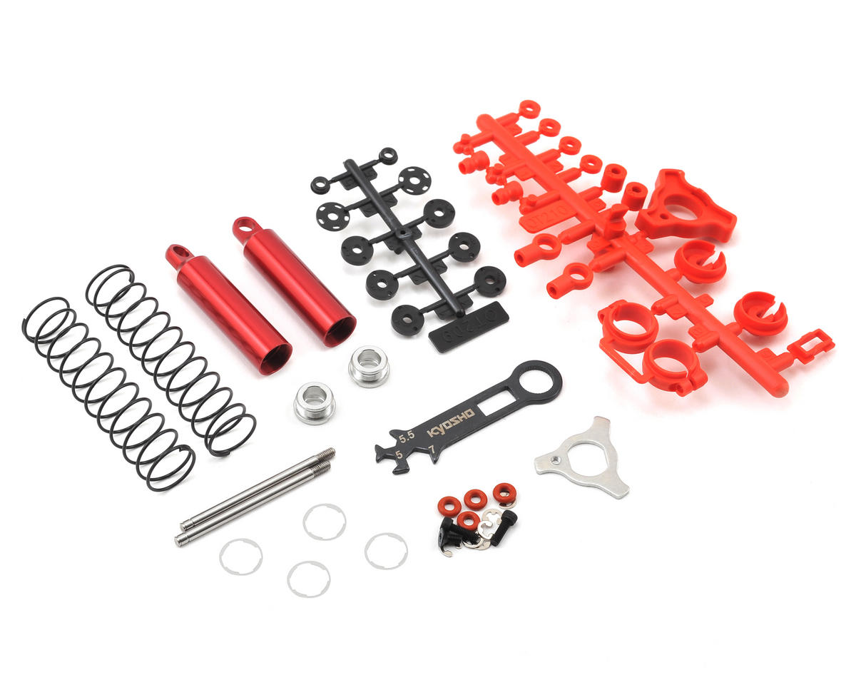 Optima Rear Shock (Red) (2) by Kyosho