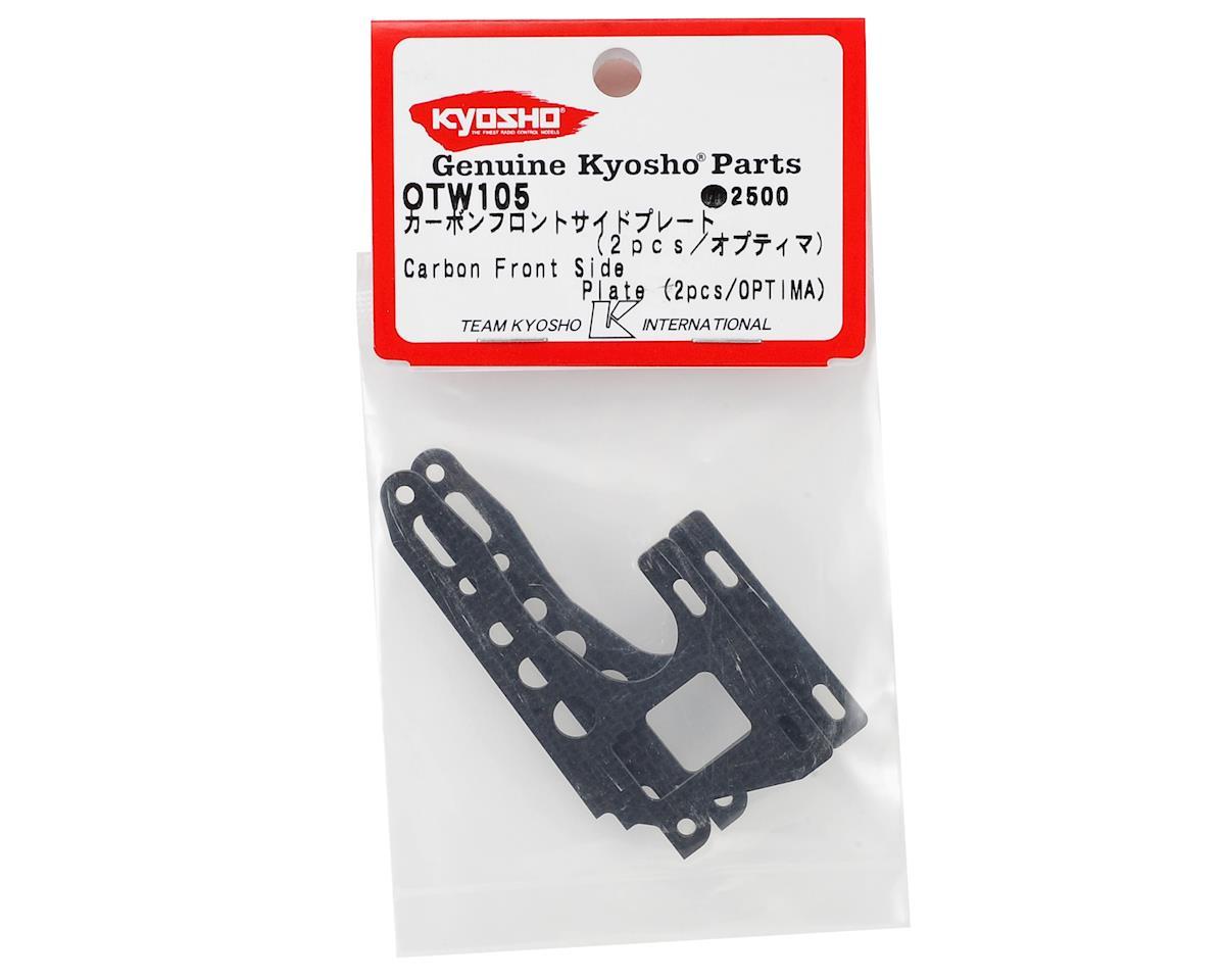 Kyosho Optima Carbon Fiber Front Side Plate Set