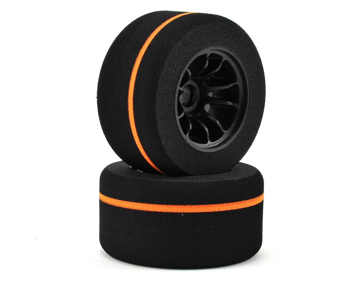 Kyosho Formula Pre-Mounted Foam Front Tire (L-42 Orange Stripe) (2)
