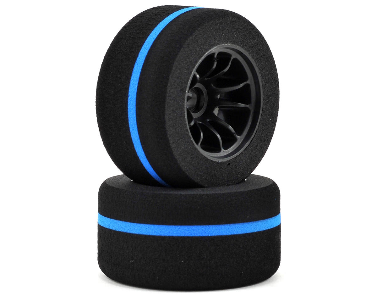 Kyosho Formula Mounted Combination Foam Front Tire (L-42/H-35 Blue Stripe) (2)