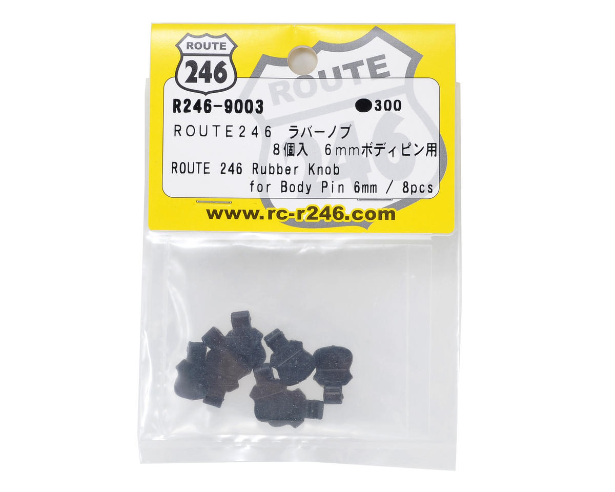 Kyosho 6mm Rubber Body Pin Tab Set (8)