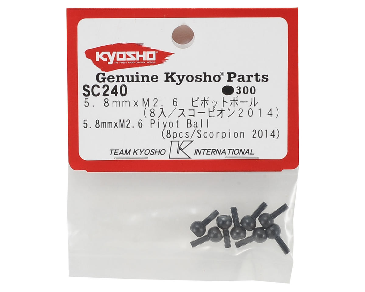 Kyosho 5.8mm x M2.6 Pivot Ball (8)