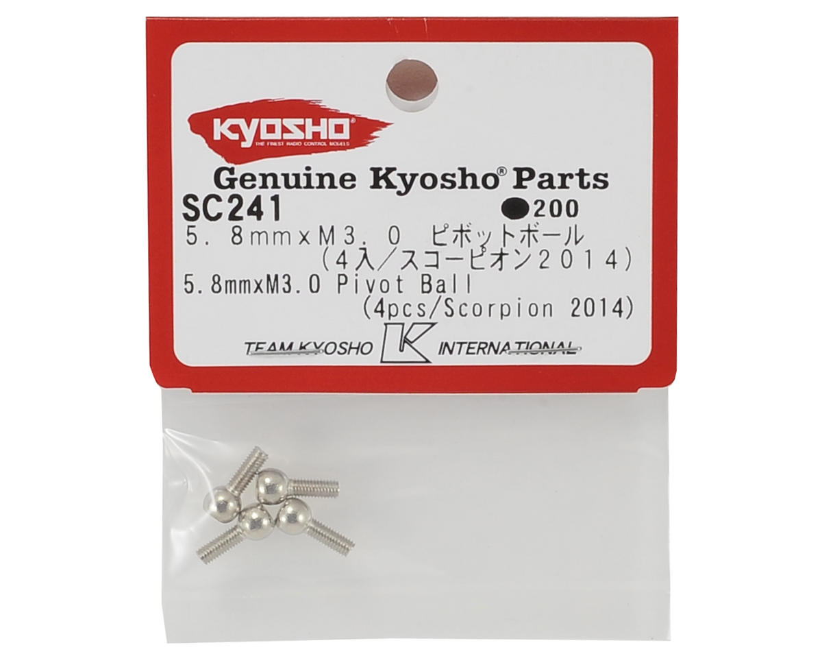 Kyosho 5.8mm x M3.0 Pivot Ball (4)