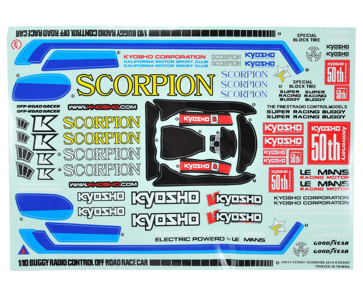 Kyosho Scorpion 2014 Body (Clear)