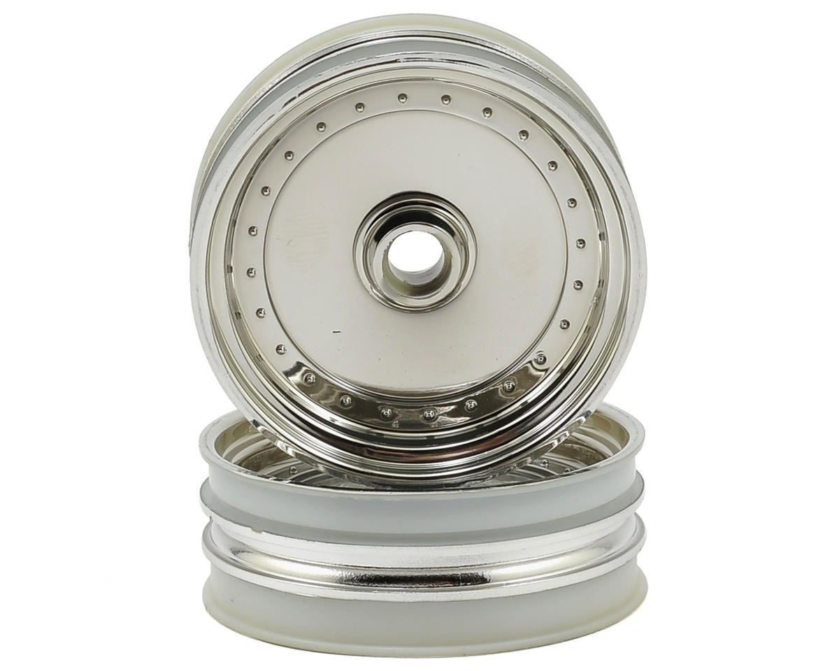 Dish Front Wheel (2) (Chrome) by Kyosho