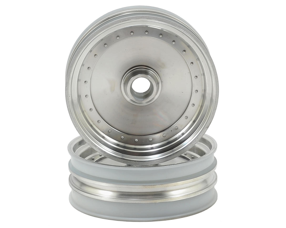 Kyosho Scorpion 2014 Dish Front Wheel (2) (Satin Chrome)