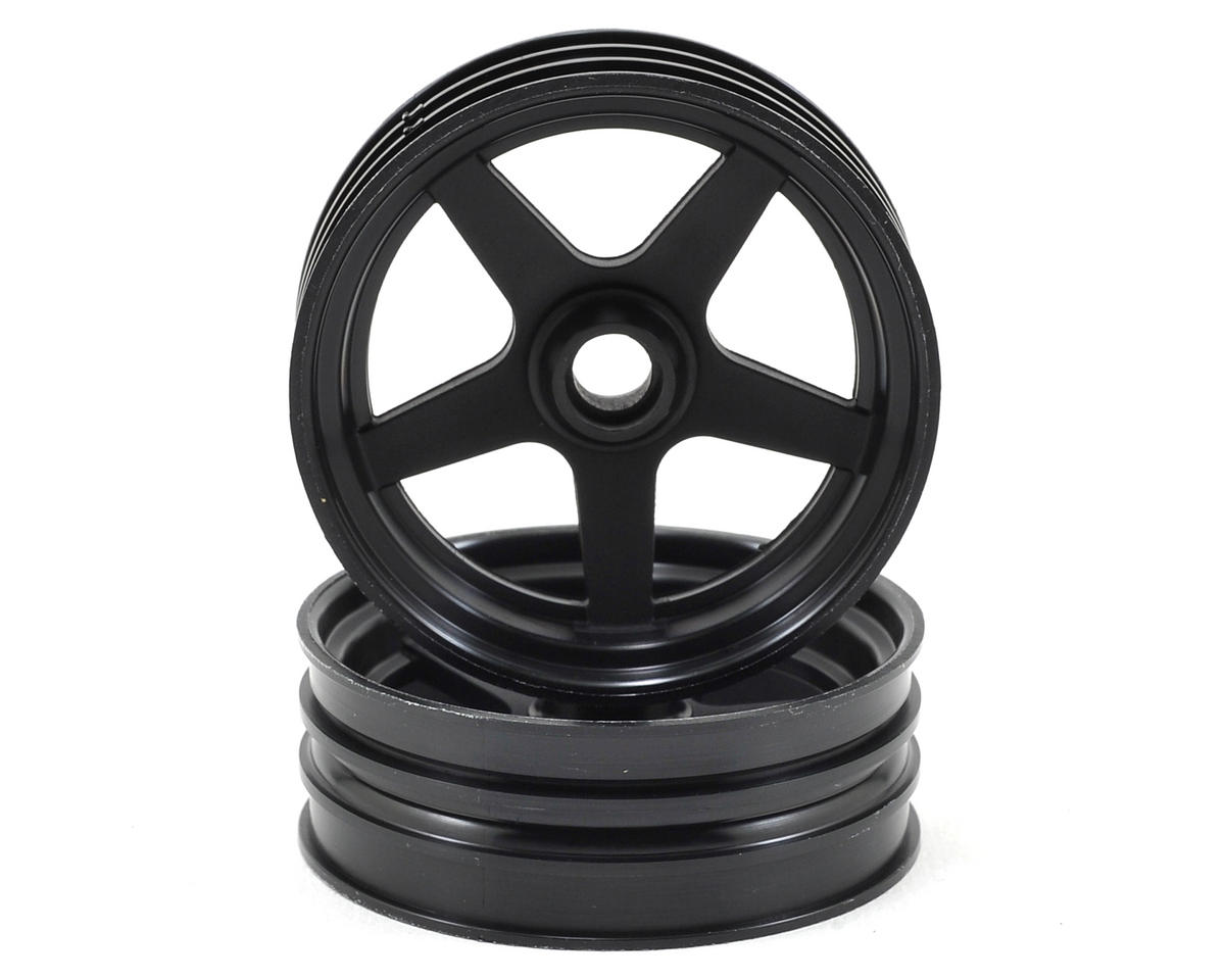 5-Spoke Front Wheel (2) (Black) by Kyosho