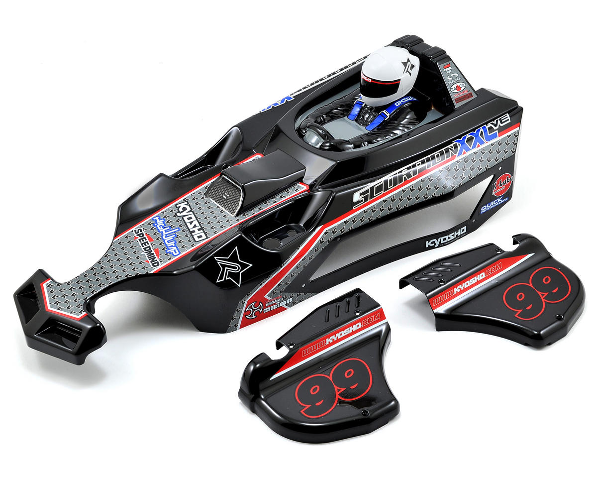 Kyosho Scorpion XXL Complete Body Set (T2 Black)