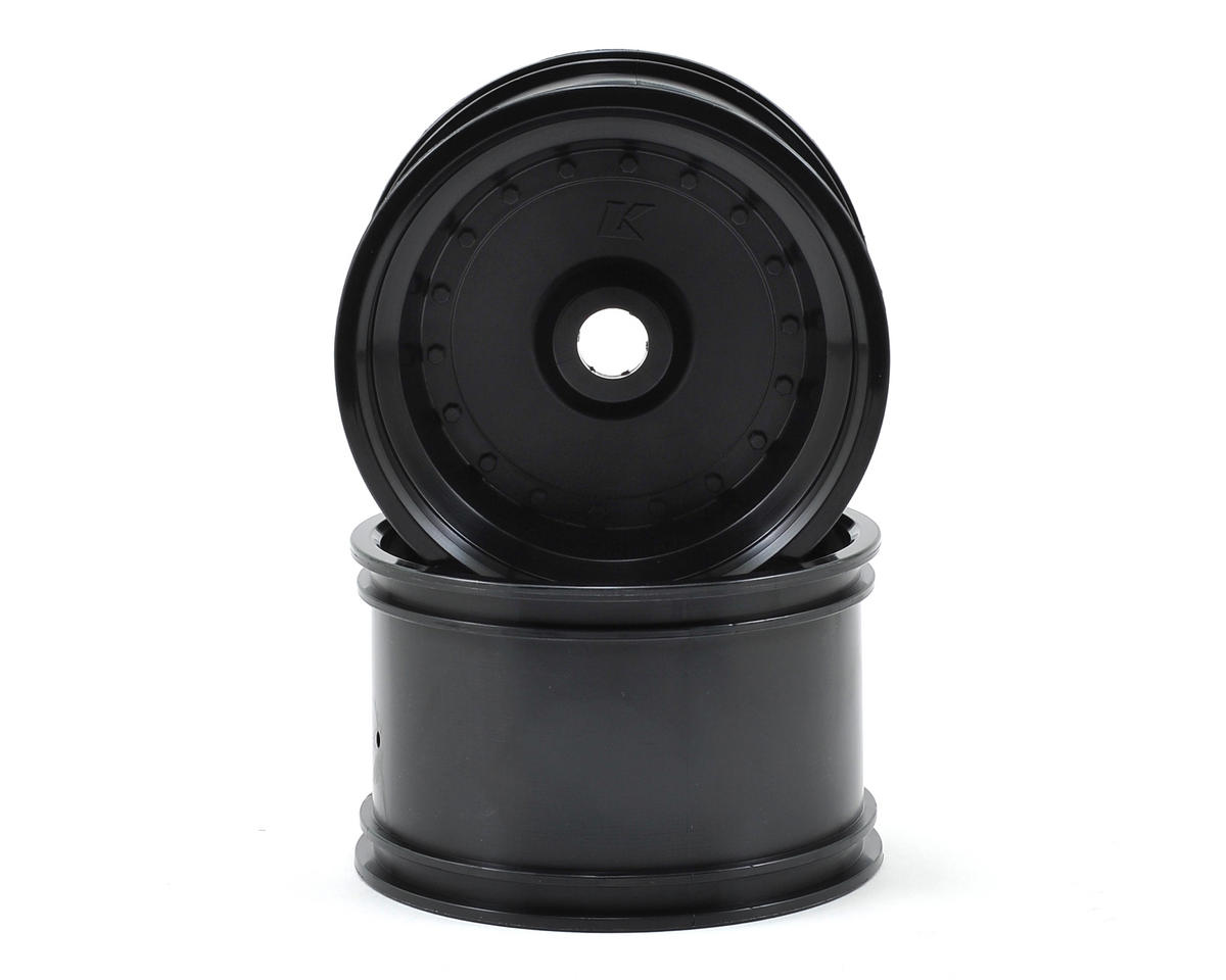 Rear Wheel (2) (Scorpion XXL VE) (Black) by Kyosho