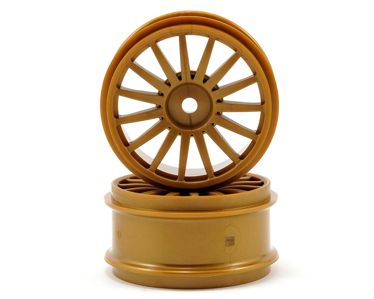 15-Spoke Wheel (Gold) (2) by Kyosho