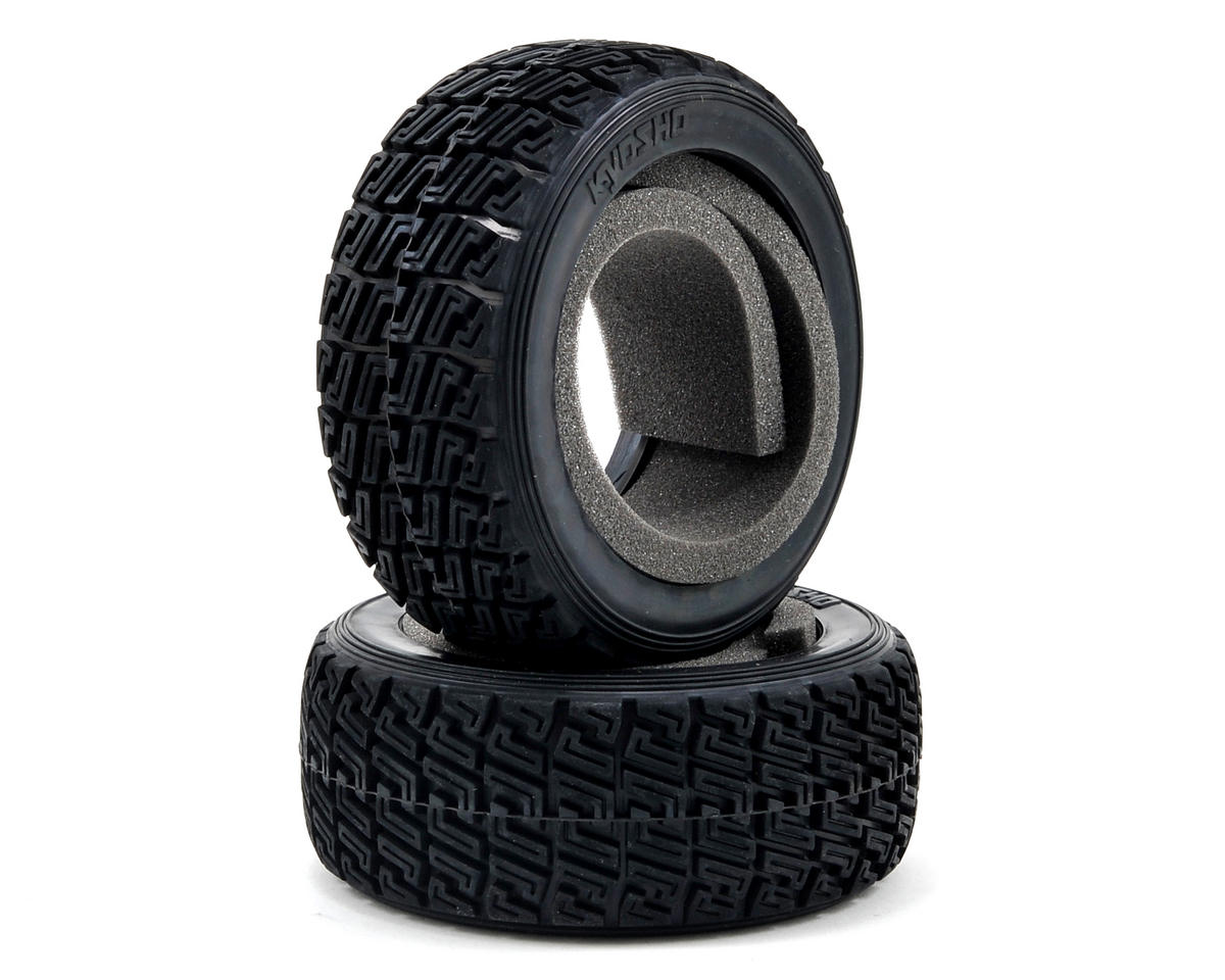 High Grip Rally Tire w/Insert (X1 Compound) (2) by Kyosho