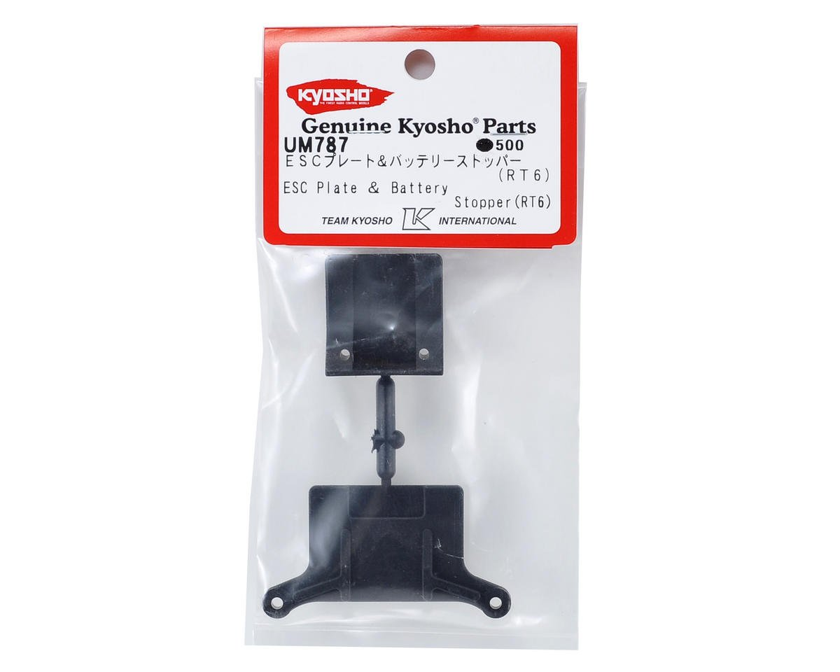 Kyosho RT6 ESC Plate & Battery Stopper Set