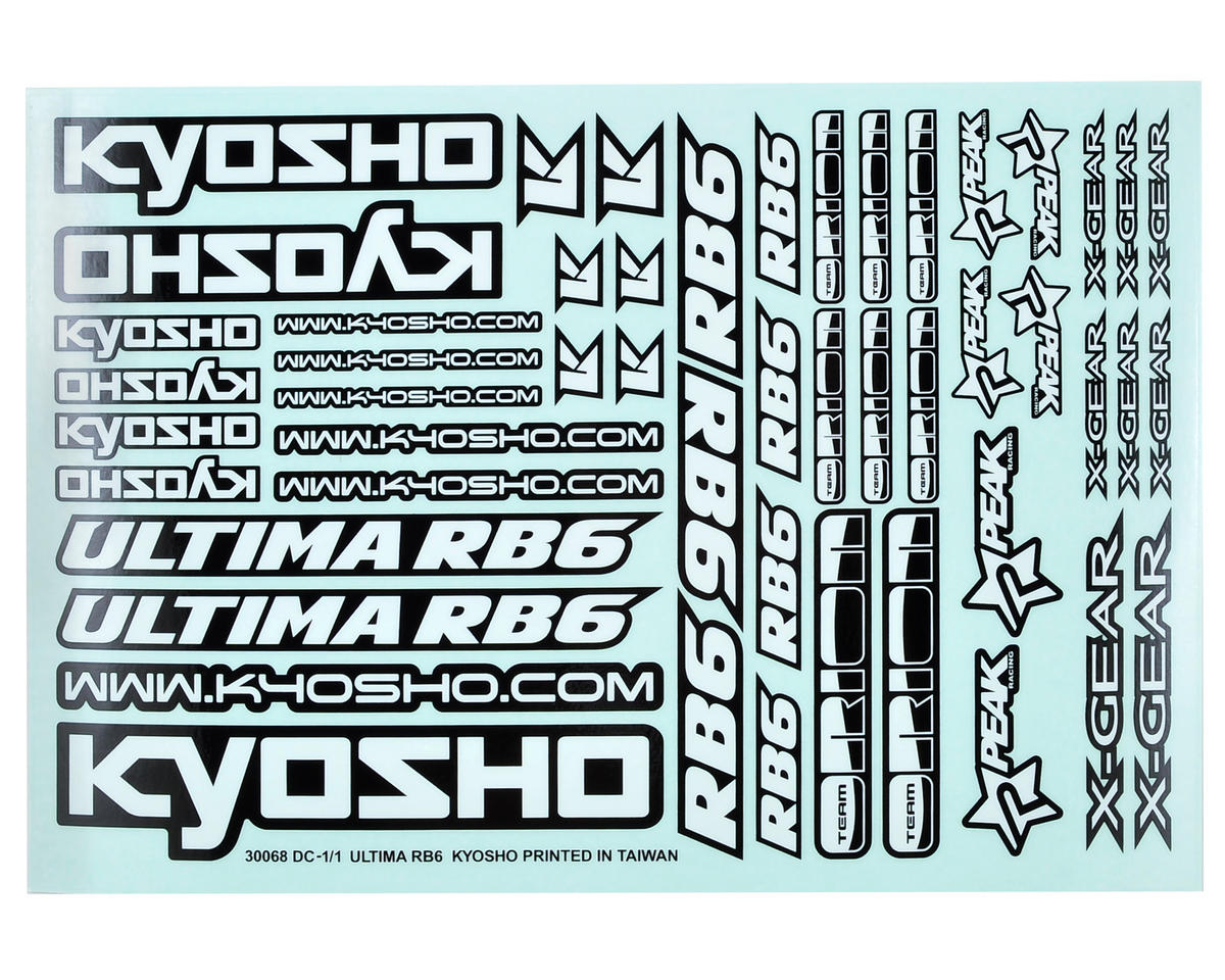 Kyosho Ultima RB6 Decal Sheet