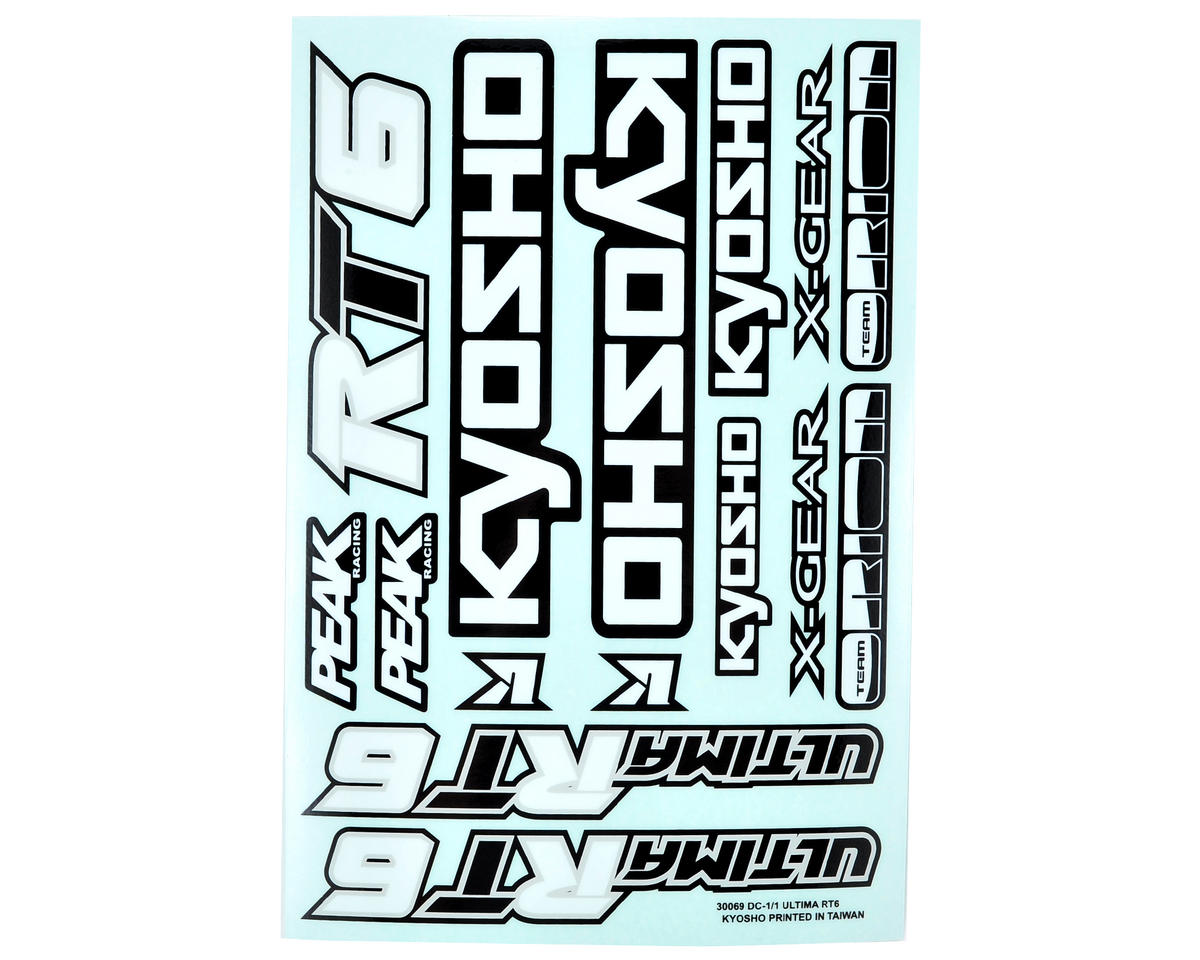 Kyosho Ultima RT6 Decal Sheet