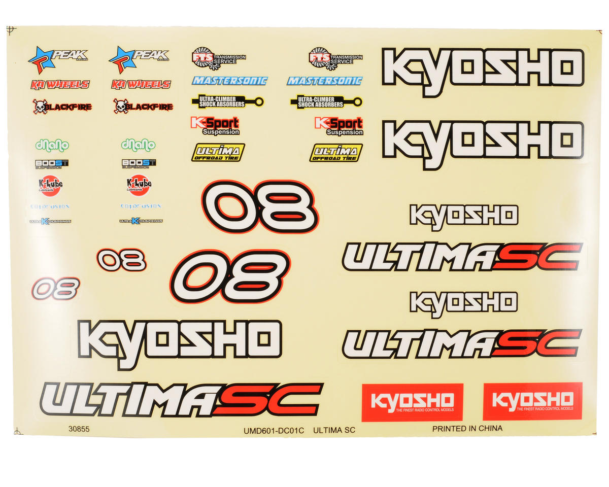 Kyosho Ultima SC Decal Set