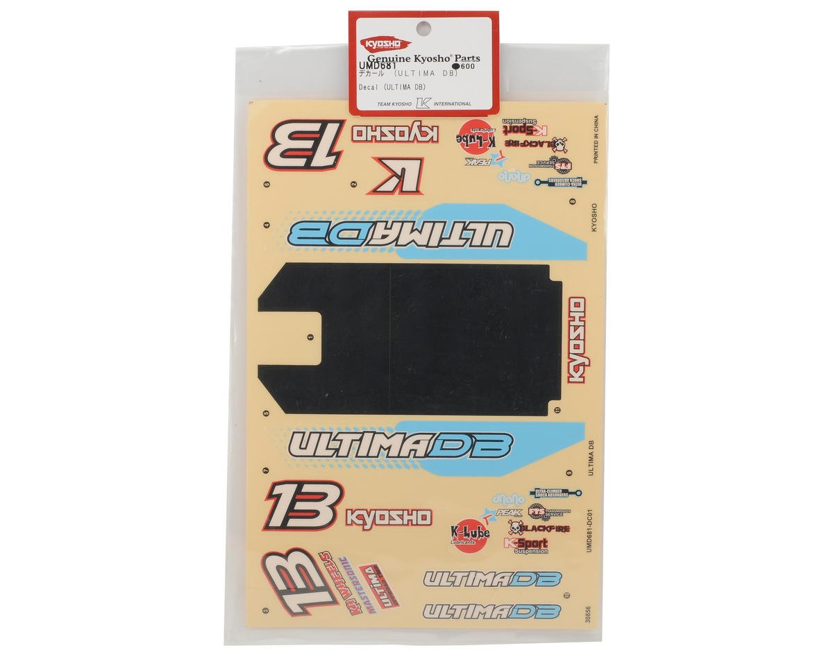 Kyosho Ultima DB Decal Set