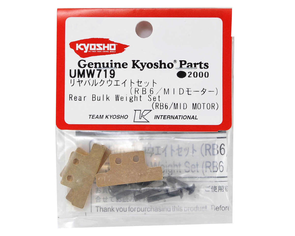 RB6 Rear Bulk Weight Set (Mid Motor) by Kyosho