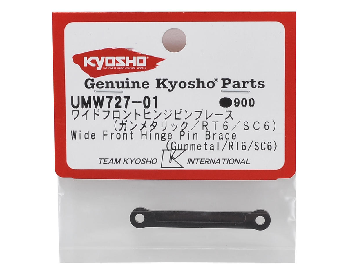 RT6/SC6 Wide Front Hinge Pin Brace (Gunmetal) by Kyosho
