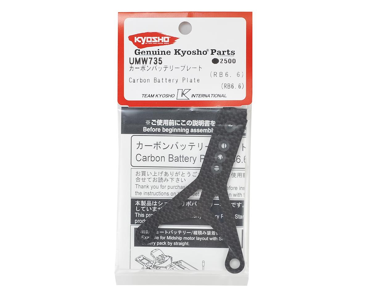 Kyosho RB6.6 Carbon Fiber Battery Plate