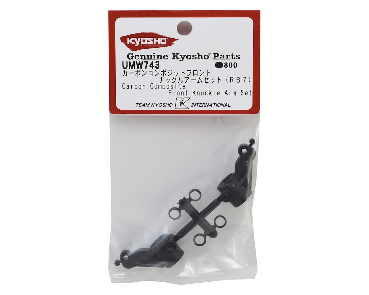 Kyosho RB7 Carbon Front Knuckle Arm Set