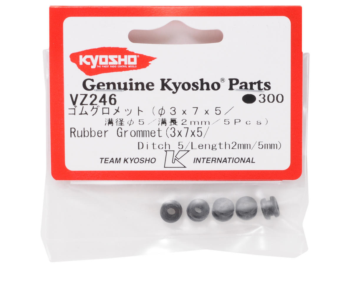 Kyosho 3x7x5mm Rubber Grommet (5)