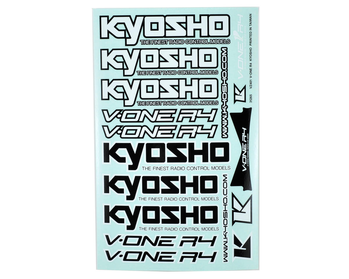 Kyosho V-One R4 Decal Sheet