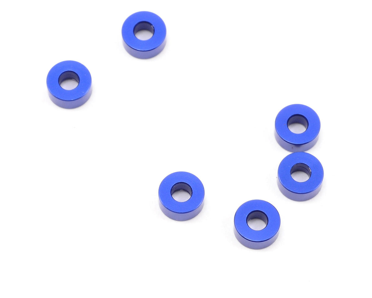 Kyosho Evolva 3mm Aluminum Spacer (6) (Blue)