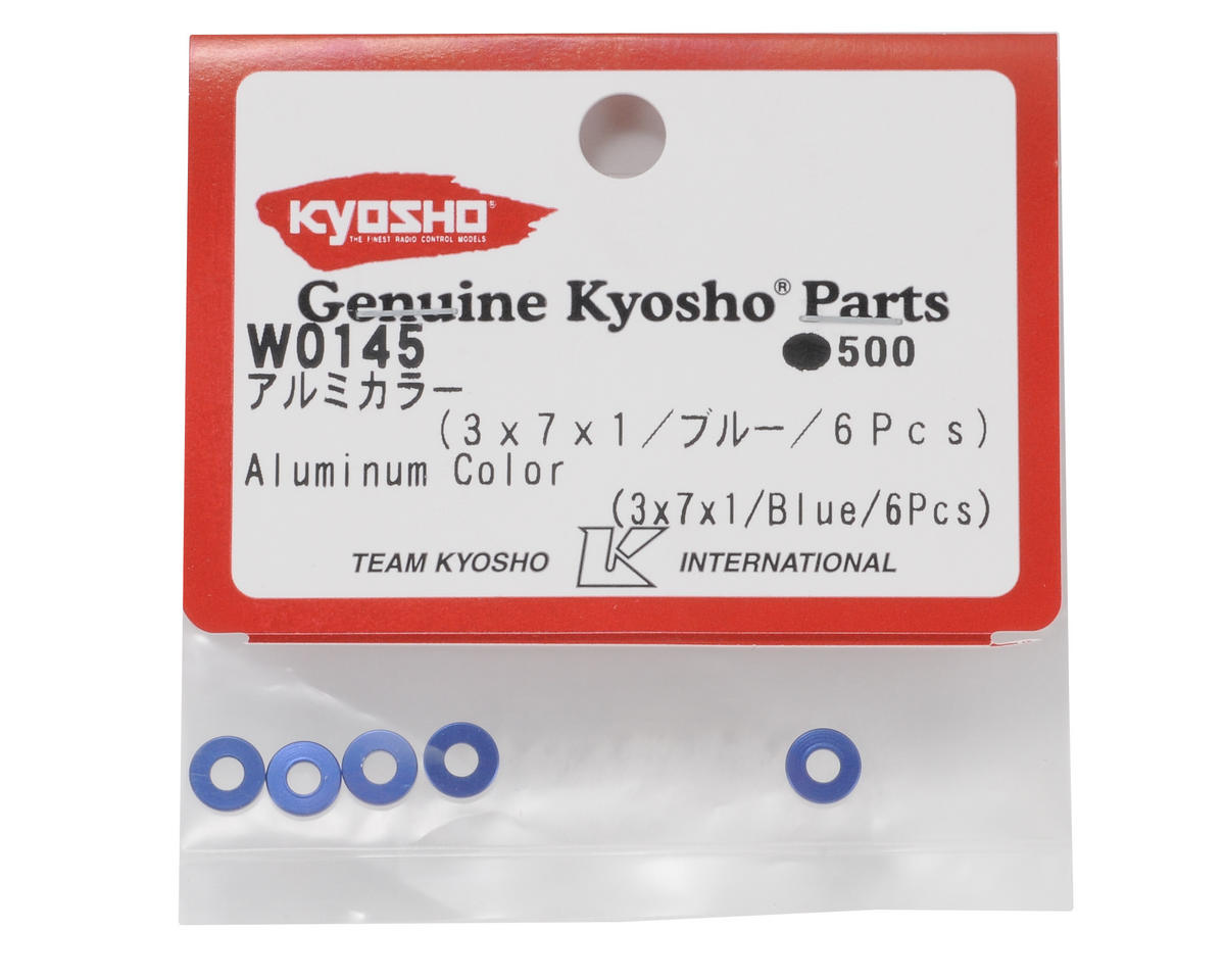 3x7x1mm Aluminum Collar (Blue) (6) by Kyosho