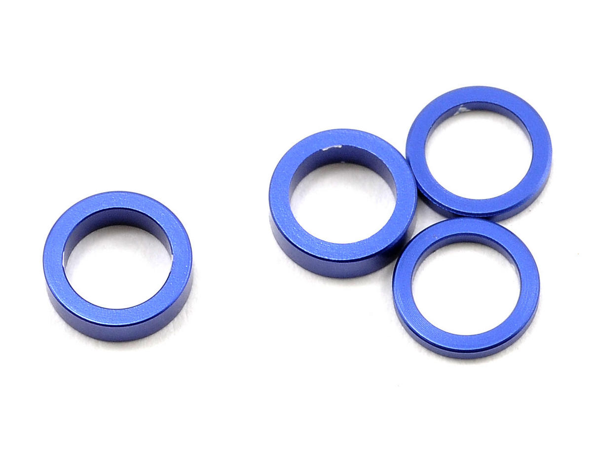Kyosho 5x7mm Aluminum Servo Saver Collar Set (Blue) (4)