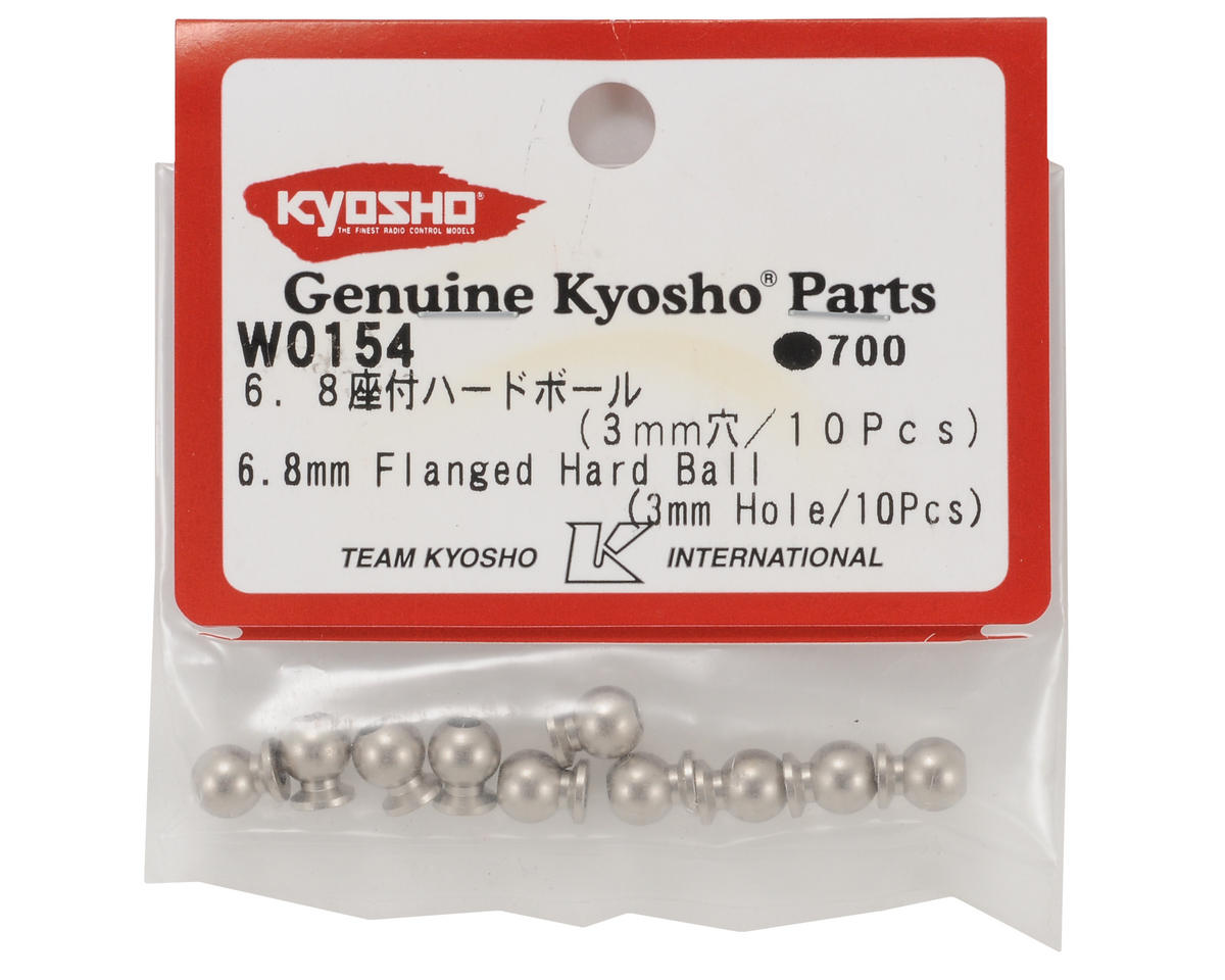 Kyosho 6.8mm Flanged Hard Ball (3mm Hole)