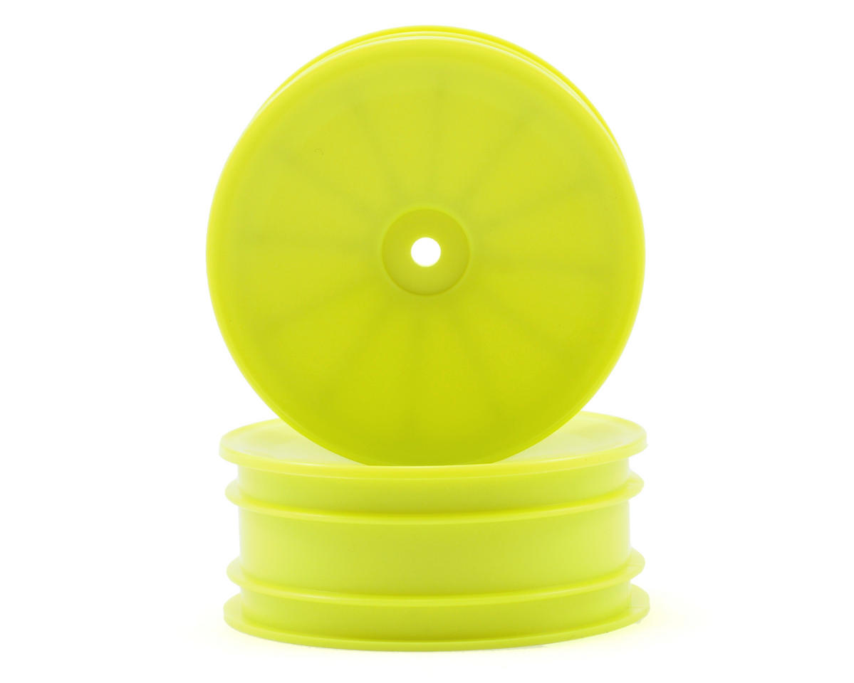 12mm Hex 56mm 2WD Front Wheels (RB6) (2) (Yellow) by Kyosho