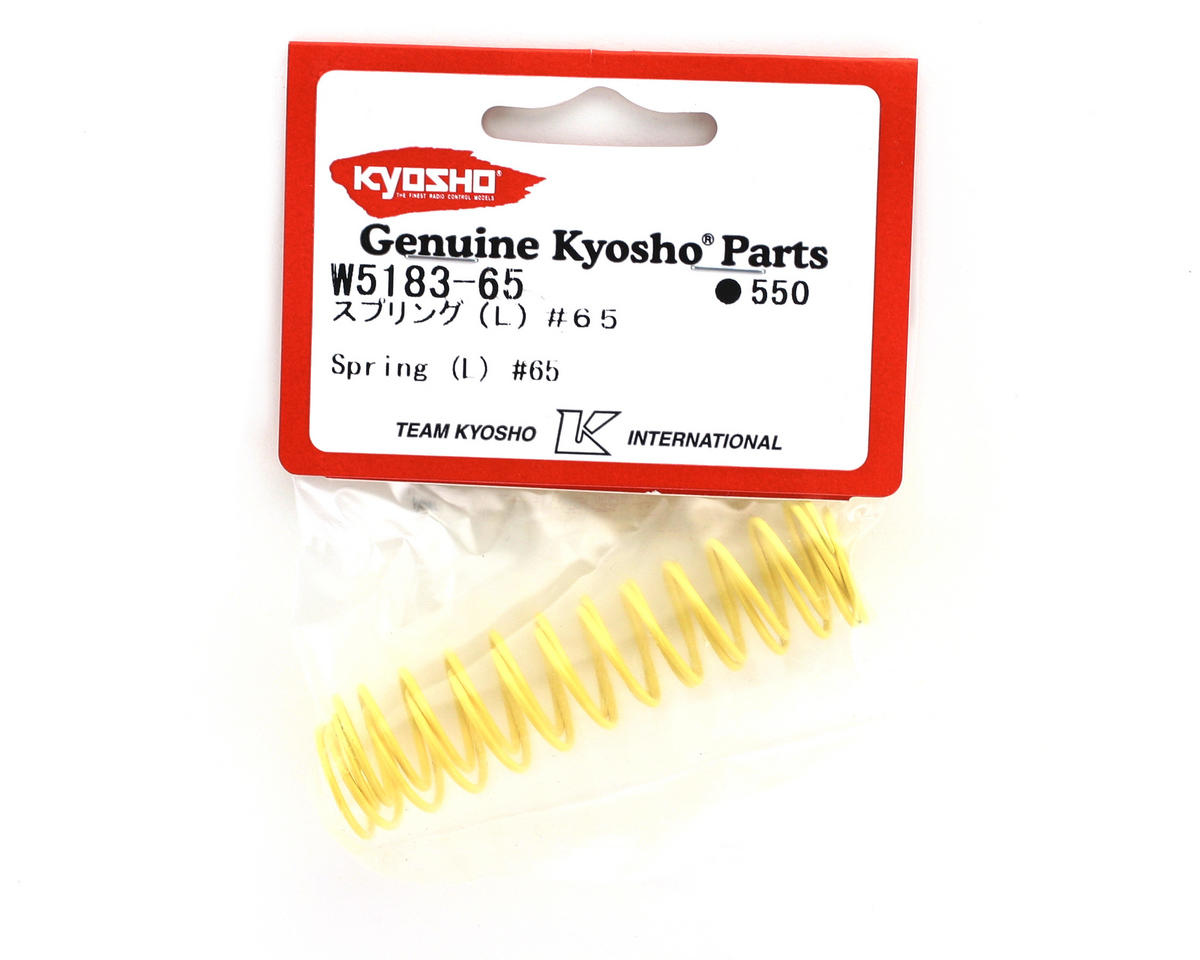 Kyosho Rear Shock Spring, Long (Light Yellow - #65) (ZX-5) (2)