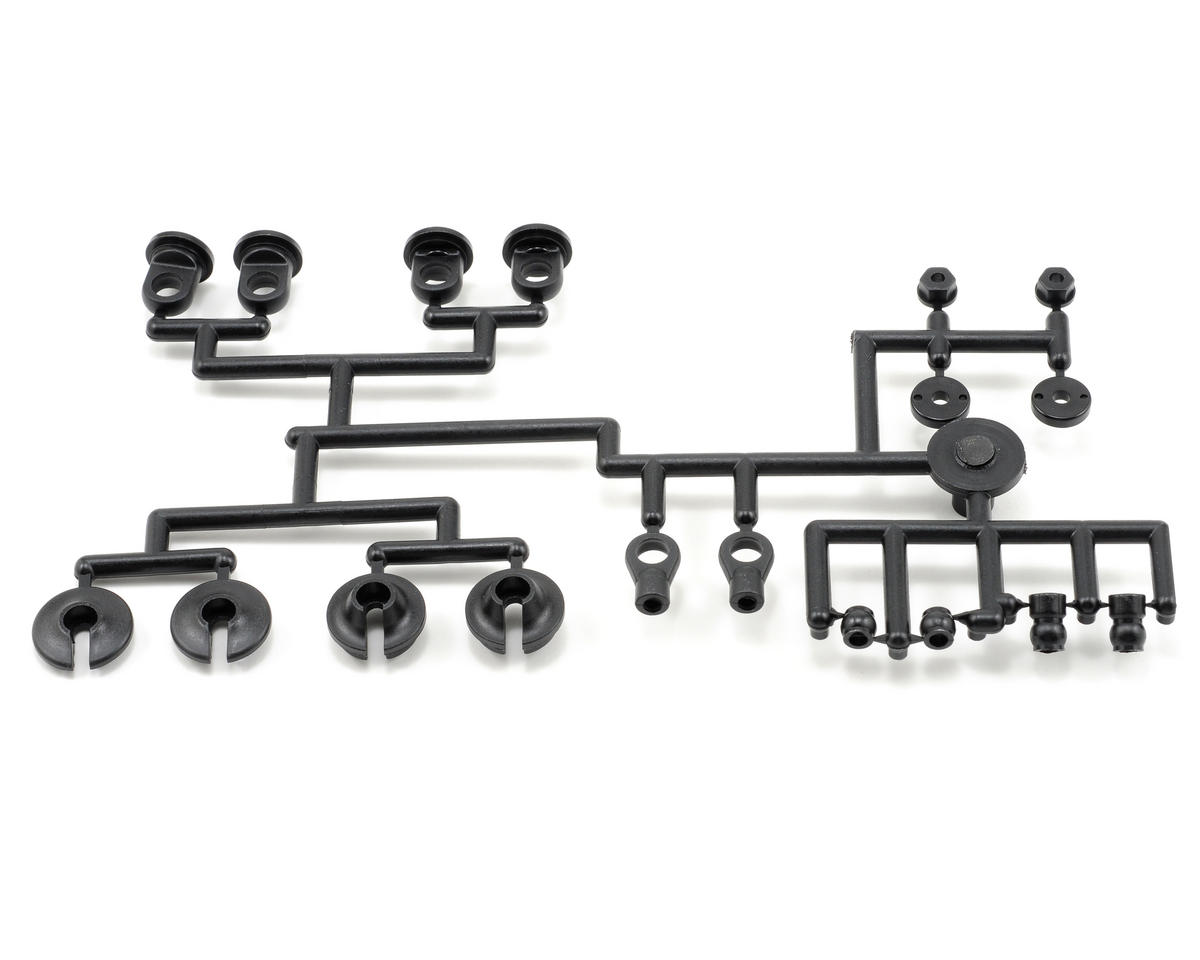 Triple Cap Plastic Shock Parts Set by Kyosho
