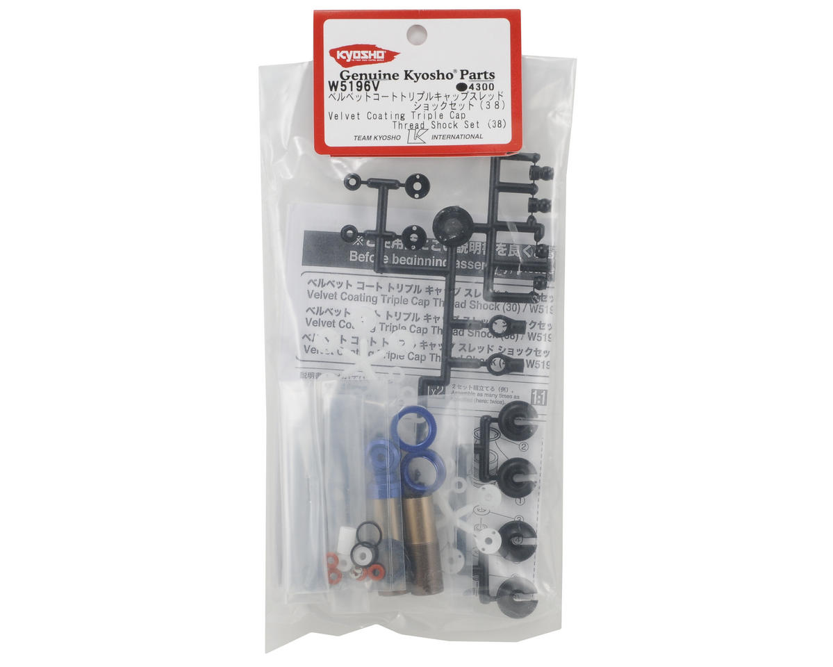 Kyosho 38mm Velvet Coated Triple Cap Shock Set