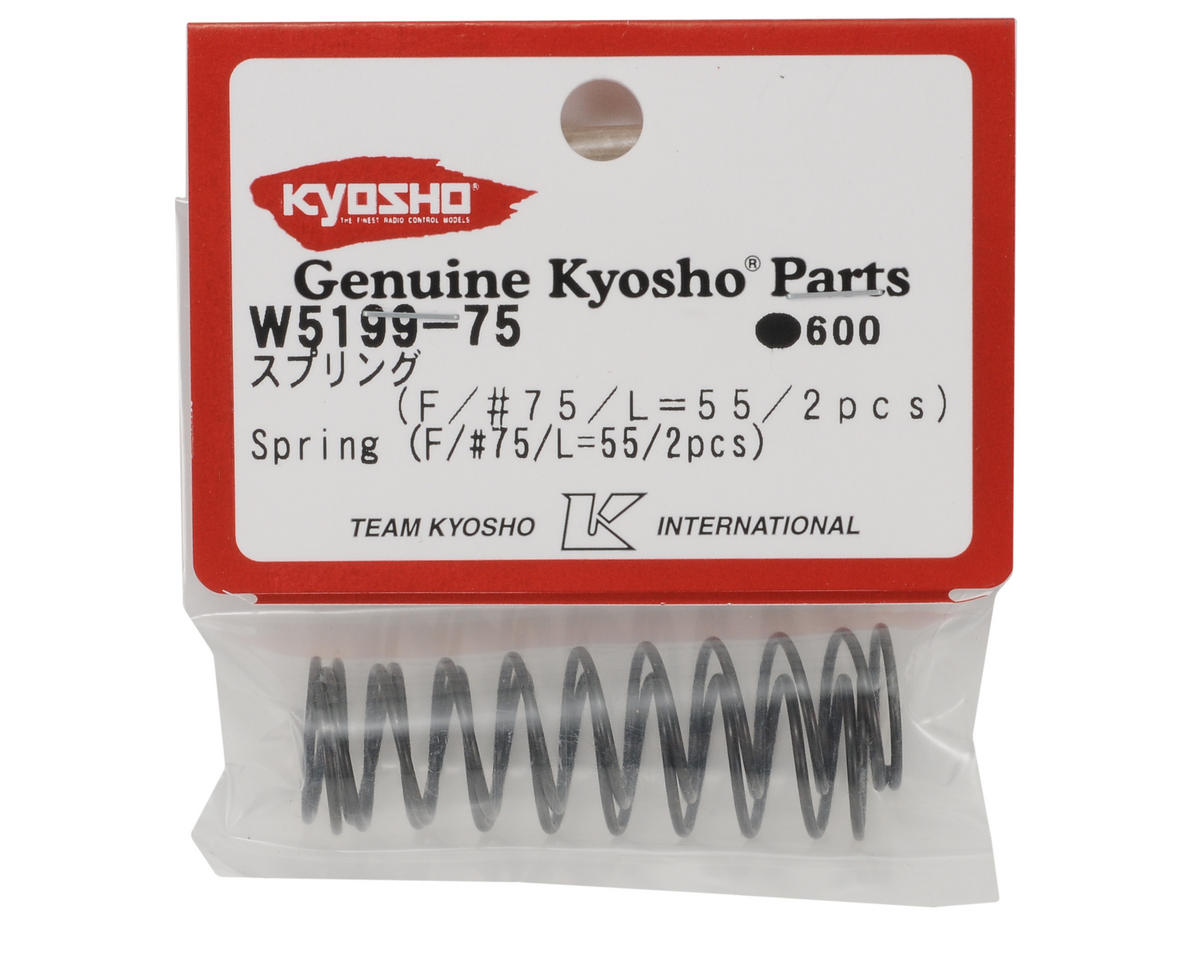 55mm Front Shock Spring (#75) (2) by Kyosho
