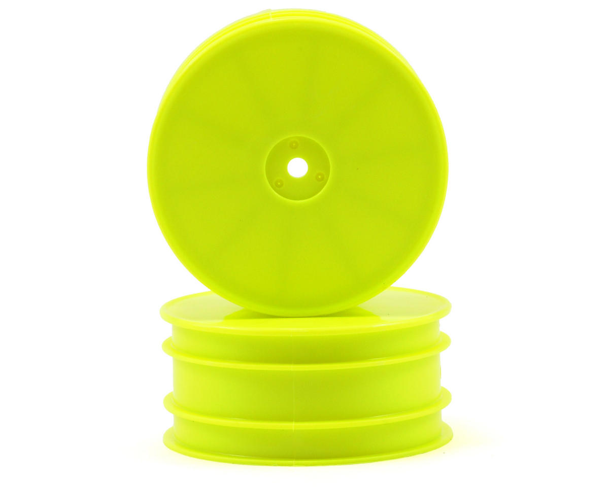 12mm Hex 56mm Flush 4WD Front Wheels (ZX6) (2) (Yellow) by Kyosho