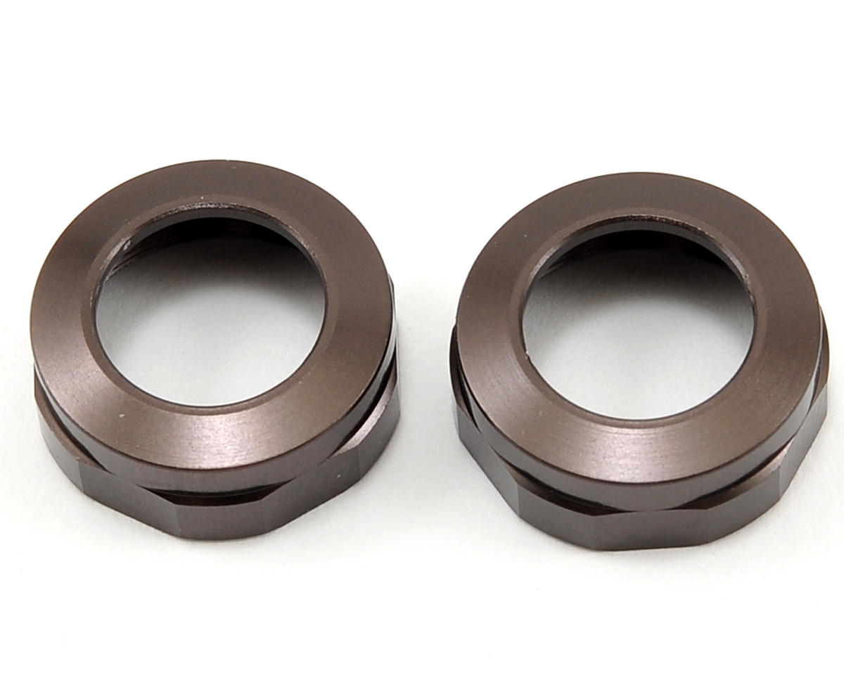 Kyosho Aluminum Big Bore Shock Cap Set (Gunmetal) (2)