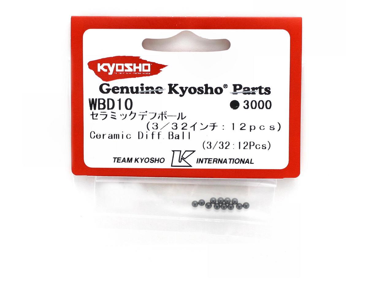 """Kyosho 3/32"""" Ceramic Diff Balls (12)"""