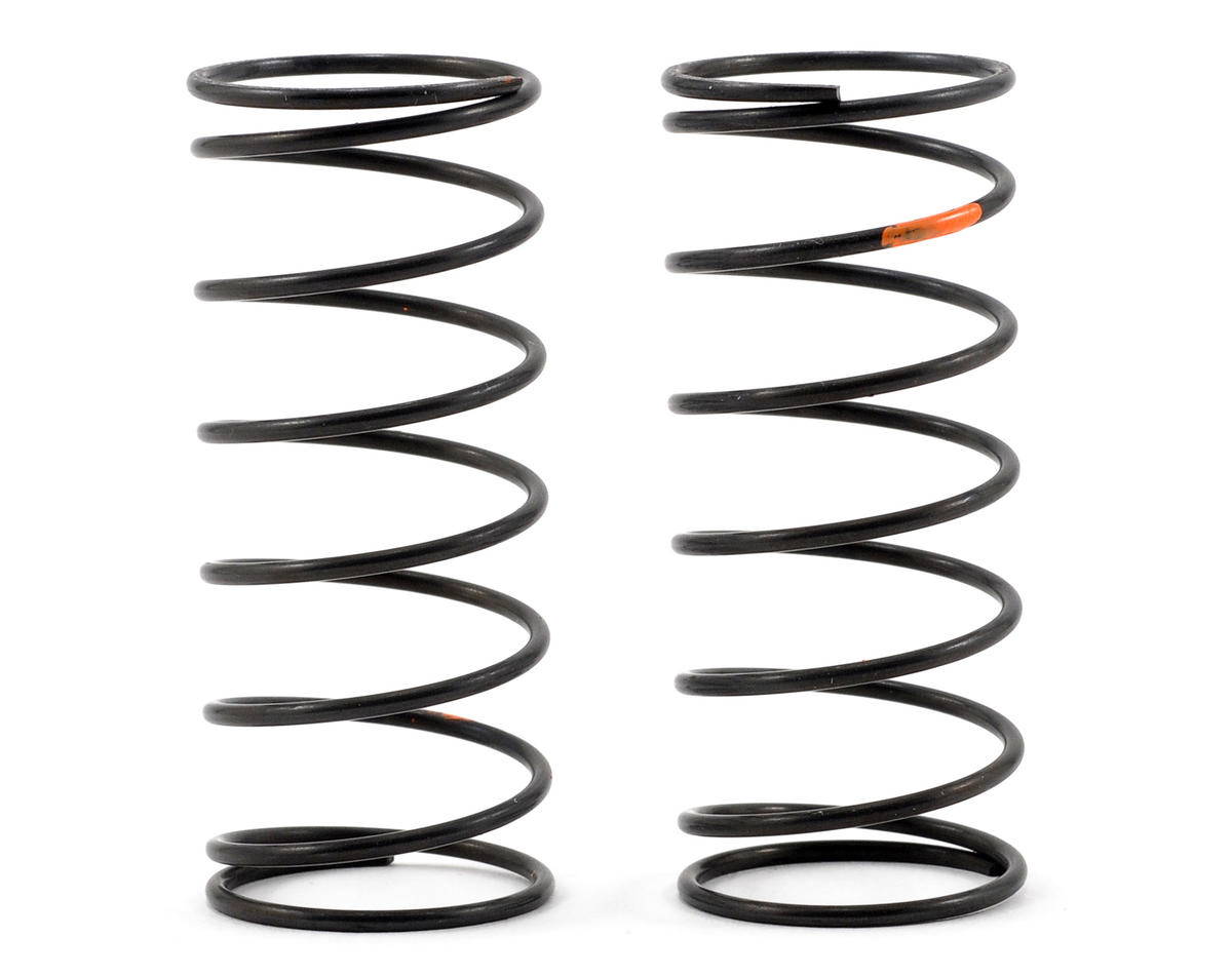Kyosho Lazer ZX-5 Big Bore Front Shock Spring Set (Orange/Super Hard) (2)