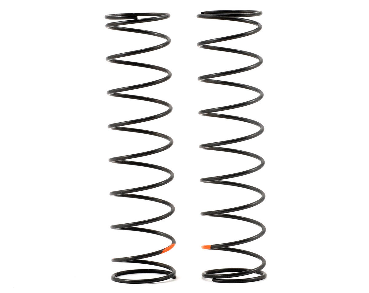 Kyosho Big Bore Rear Shock Spring (Orange/Super-Hard) (2)