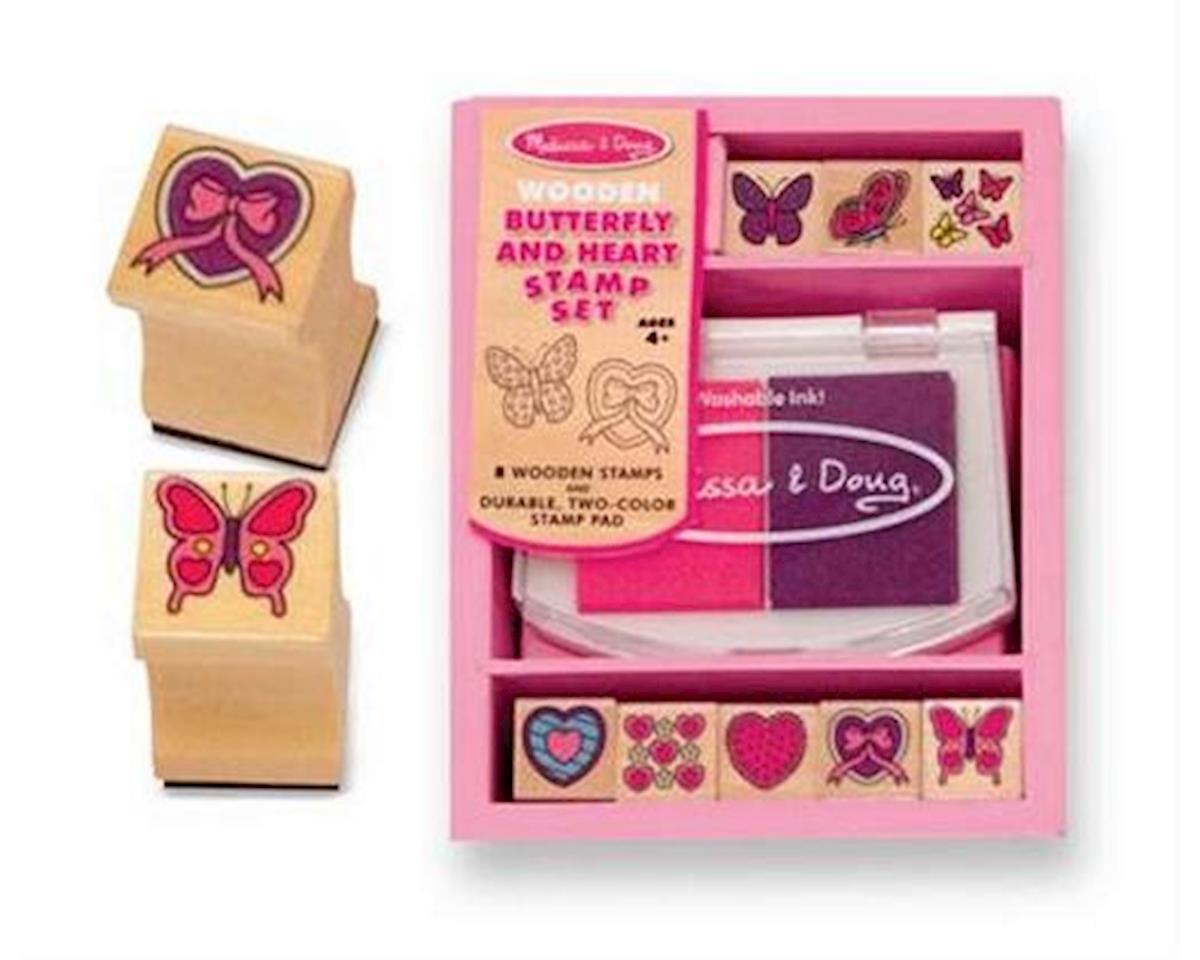 Melissa & Doug  Wooden Heart Stamp Set