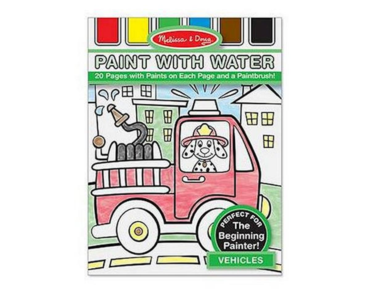 Melissa & Doug  Paint With Water: Vehicles