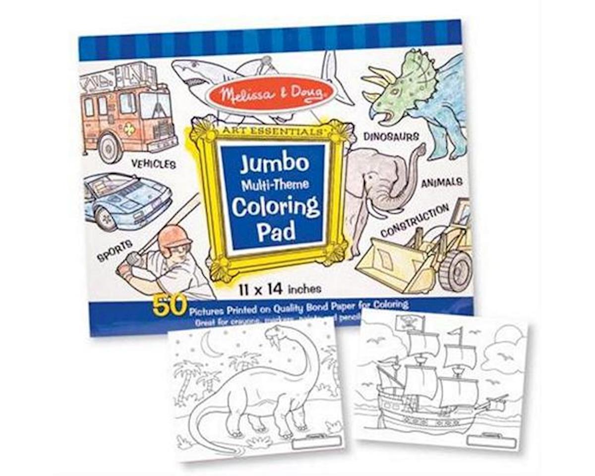 "Melissa & Doug  Jumbo Coloring Pad - Blue 11X14"""